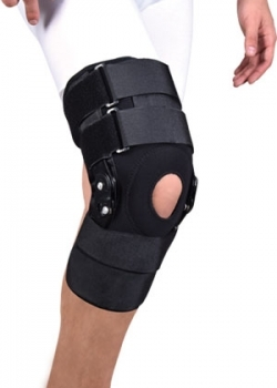 knee support with polycenteric hinges neoprene